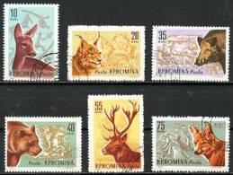 Roumanie   Y&T   1781 - 1786    Obl    ---   Animaux Des Forêts Et Chasse - 1948-.... Républiques