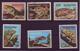 Burkina Faso YV 662/5 + PA 302/3 O 1985 Reptiles Batraciens - Reptiles & Batraciens