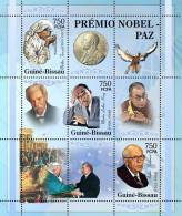 Gb5301a Guinea Bissau 2005 Nobel Prize Peace S/s Mother Teresa M. L. King A. Sakharov A. Schweitzer Pope J.Paul II Bird - Albert Schweitzer