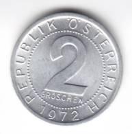 @Y@  OOSTENRIJK  2 Groschen 1972   UNC  (C572) - Oesterreich