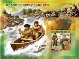 gb7108b Guinea Bissau 2007 Navigators s/s  Vasco Da Gama and others