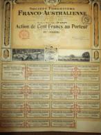 Société Forestiere Franco-Australienne/ Action De 100 Francs Au Porteur/Paris/Royer/nancy/1921       ACT27 - Automobile