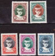 1929 Kinderhilfe Prinzessin Marie-Gabriele Satz Mit Falz Michel 213 / 217 - Ongebruikt