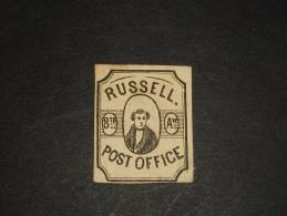 Post Office Russell Avec Portion De Gomme Charniere Papier - 1845-47 Emissions Provisionnelles