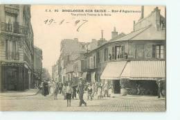 Boulogne Sur Seine :  Rue D'Aguesseau, Vue Prise De L'Avenue De La Reine. 2 Scans. Edition F A - Boulogne Billancourt
