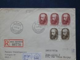 A2313   LETTRE     1969   POUR LA BELG RECOMM. - Norvège