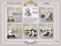 gb9314a Guinea Bissau 2009 Nobel Prize 1904 s/s J.W.Strutt W.Ramsay I.P.Pavlov F.Mistral J.Elzaguire