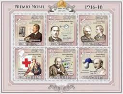 gb9618a Guinea Bissau 2009 Nobel Prize 1916 18 s/s