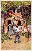 ART DÉCO / JUGENDSTIL : HÄNSEL UND GRETEL / GRIMM - ILLUSTRATION SIGNÉE: K. FEIERTAG - B.K.W.I . 337-3 (n-141) - Feiertag, Karl