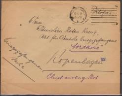 Deutschland, 1919, Prisoner Of War Mail, From Magedeburg To Red Cross Kopenhagen With Censor Marks - WO1
