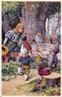 ART DÉCO / JUGENDSTIL : SCHNEEWITTCHEN / BLANCHE NEIGE - ILLUSTRATION SIGNÉE: K. FEIERTAG - B.K.W.I . 337-5 (n-144) - Feiertag, Karl