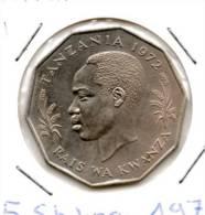 TANZANIE  5 SCHILLING    1972  KM 6          Lot N° 1 - Tanzanie