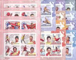 A0212 Sport Olympic Games Olympics 2008 8(6)+5(4) Sheets Compl Set ** MNH Imperf Imp Mi.Klb.4011/80U - Summer 2008: Beijing