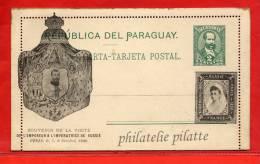 PARAGUAY ENTIER POSTAL 2C NEUF VISITE DU TSAR NICOLAS II A PARIS EN OCTOBRE 1896 RUSSIE - Paraguay