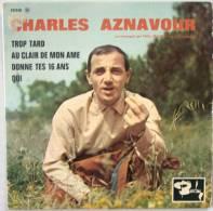 Charles AZNAVOUR EP Trop Tard  EX EX - New Age