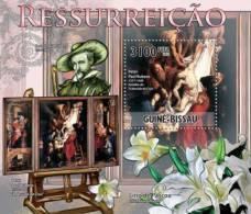 gb11307b Guinea Bissau 2011 Resurrection in Paintings Peter Paul Rubens s/s Flower