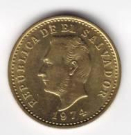 @Y@   EL SALVADOR  2 Centavos  1974 Unc    (C551) - El Salvador