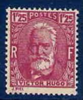 #            Oo      Yvert N°  293 - Victor Hugo - Neuf** - Gomme D'origine Garantie OO - Nuevos