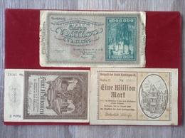 3 Notgeldscheine Hattingen Ruhr 1 Million 1 Million Mark 5 Millionen Mark 1923 - Lokale Ausgaben
