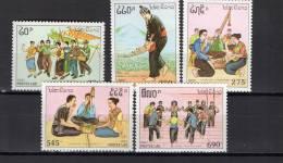Laos 1991 Michel 1276-1280 Musical Celebrations Set Of 5 MNH - Laos