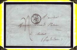 1847  -  Lettre  Postée à Privas Pour Ambert  - Ardèche  -  France - 1801-1848: Precursori XIX