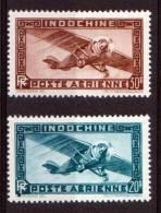 INDOCHINE POSTE AERIENNE 1949 N° 46/47 NEUFS * COTE 29 EUROS - Non Classés