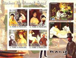St8613a S.Tome Principe 2008 Paintings Of Edouard Manet S/s Flower - Impressionisme