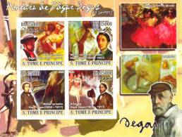 St8615a S.Tome Principe 2008 Paintings Of Edgar Degas S/s - Impressionisme