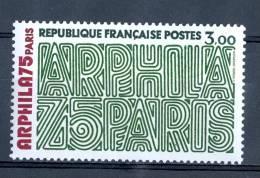 FRANCE 1975  ANNÉE  N° 1832 GRAPHISME PLEIN DE POINT VERT     NEUF *** - Errors & Oddities