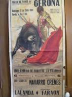 Corrida/ Plaza De Toros De GERONE/Gran Corrida De Novillos Sin Picadores/LALANDA De Ma/FARAON De Almeria/1964   AFF2 - Affiches