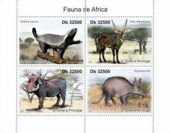 St11204a S.Tome Principe 2011 Fauna Of Africa S/s Deer Pig - Rodents