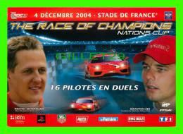 CÉLÉBRITÉS - MICHAEL SCHUMACHER & SÉBASTIEN LOEB - STADE DE FRANCE EN 2004 - - Sportifs