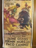 Corrida/ Plaza De Toros Monumental De Barcelona/Grandosia Corrida De Toros/Ostos/Camino/Murill O/1960   AFF4 - Affiches