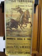 Corrida/ Plaza De Toros Taragonna/Monumental Corrida De Toros/Girone/Camino/Capetillo/1958   AFF5 - Affiches
