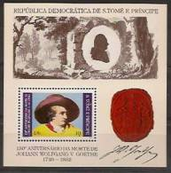 SAO TOME AND PRINCIPE 1982  J. Von Goethe - Sao Tome En Principe