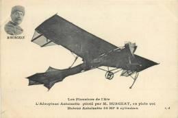 AEROPLANE ANTOINETTE PILOTE PAR M. BURGEAT  AVIATEUR - Piloten