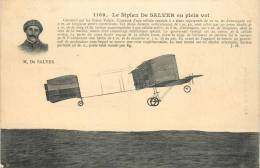LE BIPLAN DE SALVER EN PLEIN VOL DE SALVER  AVIATEUR - Piloten