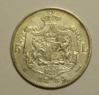 Roumanie Romania Rumänien 5 Lei 1883 Argent / Silver # 5 - Romania