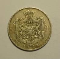 Roumanie Romania Rumänien 5 Lei 1883 Argent / Silver # 12 - Roumanie