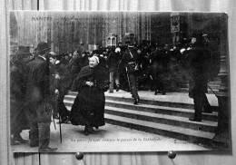 NANTES INVENTAIRES MANIFESTATION 22 FEVRIER 1906 LA POLICE FAISANT EVACUER LE PARVIS DE LA CATHEDRALE - Manifestazioni
