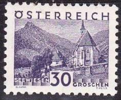 Osterreich /  Austria 1929 Republik Landschaften 30 G. Violettpurpur Mit Falz Mi 506 - 1918-1945 1ste Republiek