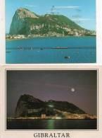 GIBRALTAR  (Lot,Ensemble De 2 Cartes) (Penon / Night View Of Gibraltar From Spain ) Voir Description - Gibilterra