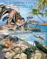 tg11416b Togo 2011 Ecosystem of Mediterranean Sea s/s Bat Fish Spider