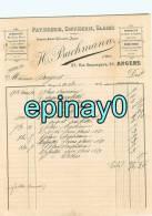 FACTURE - ANGERS - H. BUCHMANN - Ancien Maison Gonzet Jeger - 57 Rue Beaurepaire - Patisserie - Confiserie - Glace - Frankrijk