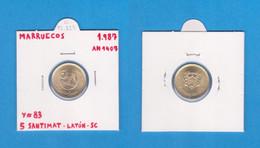 MARRUECOS   5  SANTIMAT  1.987  AH-1407   LATON  Y#83   SC/UNC    T-DL-8477 - Marruecos