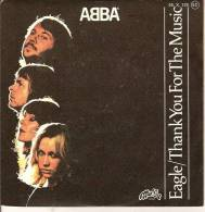 45T. ABBA. EAGLE, THANK YOU FOR THE MUSIC. - Vinyles