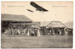 AMBERIEU - AVIATION - Devant Les Hangars - Otros Municipios