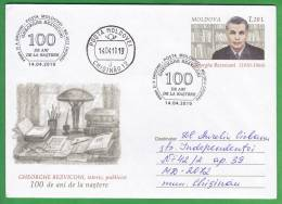 MOLDOVA   MOLDAVIE   MOLDAWIEN   MOLDAU  2010 ; Historically , Publicist  G.Bezviconi. Pre-paid Envelope. FDC. Used. - Moldova