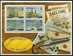 MONTSERRAT - 1986 Sailing Ships Souvenir Sheet. Scott 621a. MNH ** - Montserrat