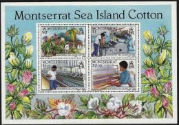 MONTSERRAT - 1985 Cotton Industry Souvenir Sheet. Scott 572a. MNH ** - Montserrat